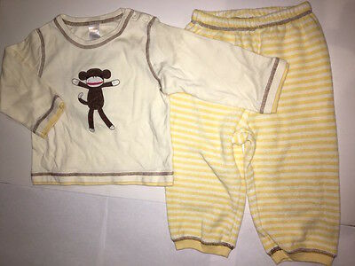 Gymboree Monkey and Friends Lounge Set Top Pants 18-24 Months NWT Free Shipping