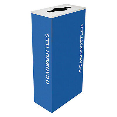 17 gal. Recycling Container Rectangular, Blue Steel TOUGH GUY 22N286