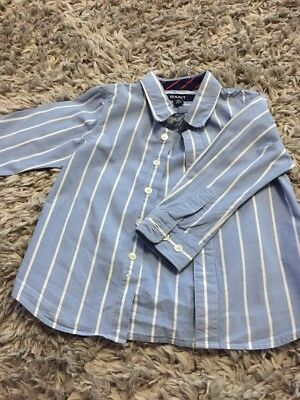Toddler Boys Gant Long Sleeved Shirt 18 Months Blue Stripe