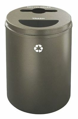 33 gal. Recycling Container Round, Brown Steel GLARO MT-2032BV-BV-R/T