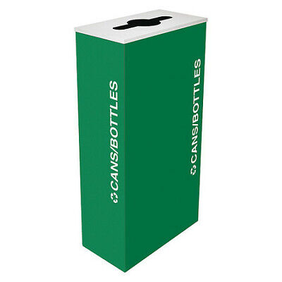 17 gal. Recycling Container Rectangular, Green Steel TOUGH GUY 22N284