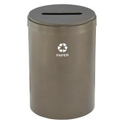 41 gal. Recycling Container Round, Brown Steel GLARO P-2042BV-BV-P