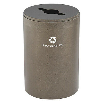 41 gal. Recycling Container Round, Brown Steel GLARO M-2042BV-BV-R