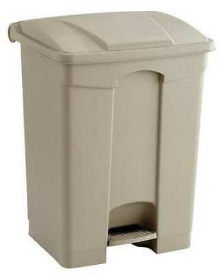 17 gal. Tan Plastic Rectangular Trash Can SAFCO 9922TN
