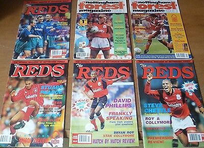 6x Nottingham Forest Magazines, 1994-96.