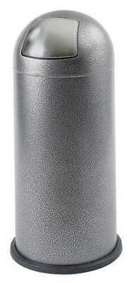 15 gal. Black Steel Round Trash Can SAFCO 9675NC