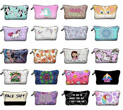 Girls Boys Pencil Case Unicorn Stationery Pouch School Organiser Make Up Bag