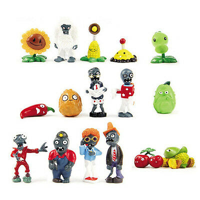 16 x Plants vs Zombies Series Game Different Roles PVC  Figure Toy Birthday Gift