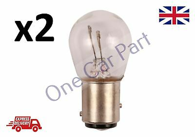 New Car Rear Stop /& Tail Brake Bulbs Pair 380 12V P21//5W Double Pin Braking