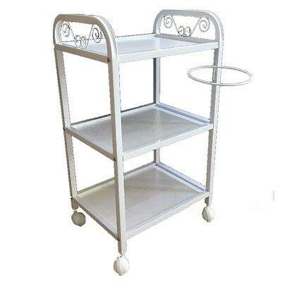 Professional Salon Beauty 3 Shelves Spa Trolley Cart with Bowl HOLDER