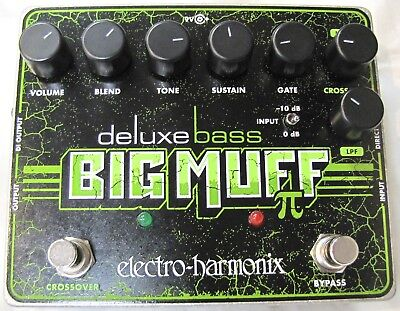 Used Electro-Harmonix EHX Deluxe Bass Big Muff Pi Distortion Guitar Effect Pedal