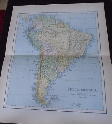 Old Map South America1890