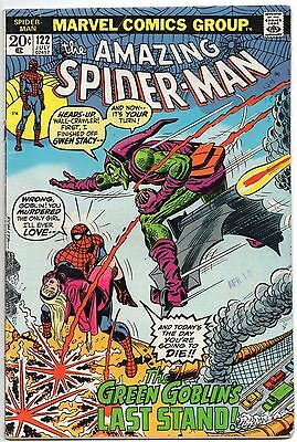 Amazing Spider-Man 122 Death of Green Goblin! First 1st Printing Bronze Age 1973