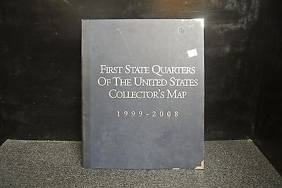 First State Quarters Of The United States Collector's Map Complete With 50 Coins