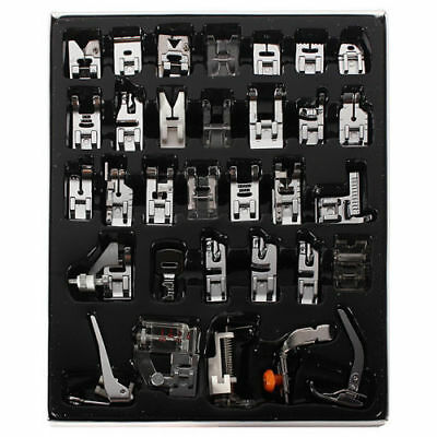 32pcs/Set Domestic Sewing Machine Presser Foot Feet Set for Brother Janome