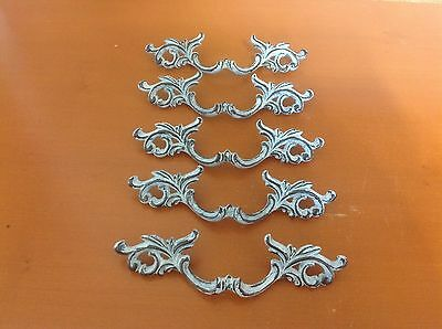 X036 VTG French Provincial Handle White Wash Shabby Chic! 4 Left