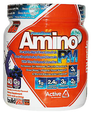 Muscle Elements Amino PM Power Down Growth Deep Sleep Inducing 40-20 Servings