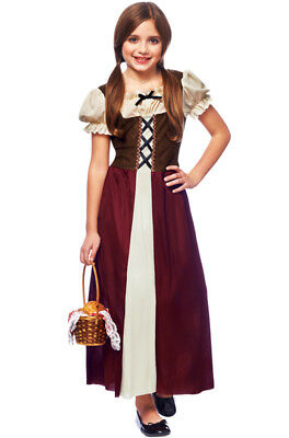Brand New Renaissance Medieval Peasant Girl Child Costume
