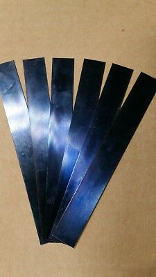 "Blue Tempered Spring Steel Shim .015"" x 1/2"" w x 6 inch Long 0.015 015 one piece"