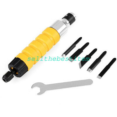 Electric Handpiece Power Engraving Kit + 5 Chisels Sculpture Carving Woodworking