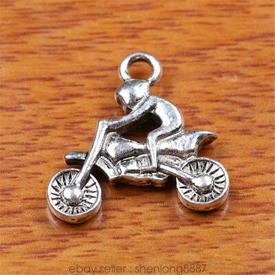 20 Pieces 21mm Motorcycling Charms Tibetan Silver DIY Charm jewelry Bail 7194F