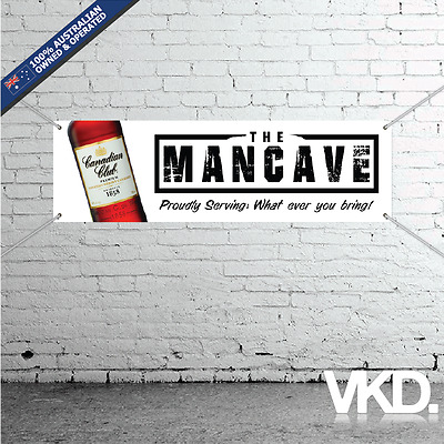 Canadian Club Mancave Banner - Man Cave Bar New Personalised Whisky Dry Cola