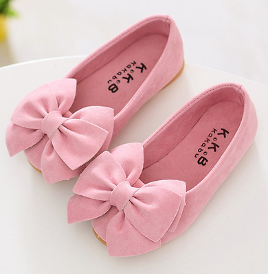 Children Girls Baby Kids Suede Princess Shoes Flats Bow-knot shoes Dress Sandals