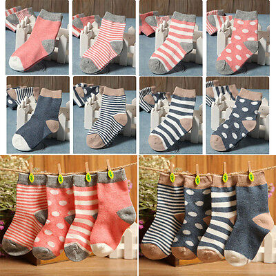4 Pairs Cute Newborn Baby Toddler Kids Boys Girls Cotton Soft Ankle Socks 0-3Y w