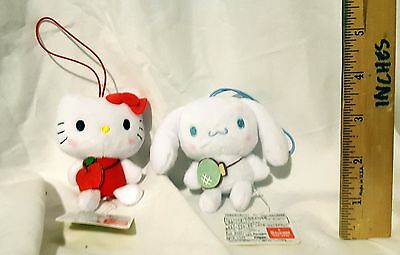 New Sanrio Characters Fruit Pouch Plush Dangle Lot Of 2! Japan! Free Ship!