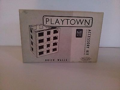 1950s Playcraft Playtown Brick  Walls Accessory Kit No 10. Complete. RARE
