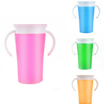 Toddler Kids Baby Drinking Training 360 Degree Drink Prevent leaking Miracle Cup