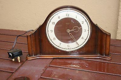 1930s/1940s SMITHS WOODEN ELECTRIC MANTLE CLOCK