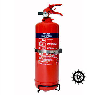 2kg Dry Powder Fire Extinguisher MED Ship's Wheel Approved MARINE