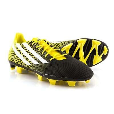 adidas Mens Crazyquick Malice FG Rugby Boots Core Black/White/Bright Yellow