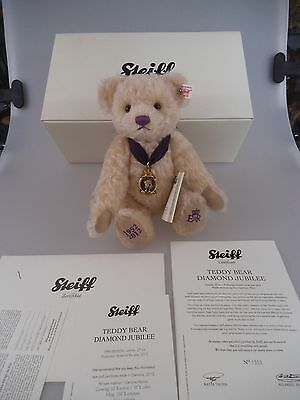 Steiff Teddy Diamond Jubilee of Queen Elisabeth II Limited UK Edition 2012  (876
