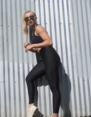 Celine Black Super High Waisted Compression Tights Activewear By Gerrycan Act...