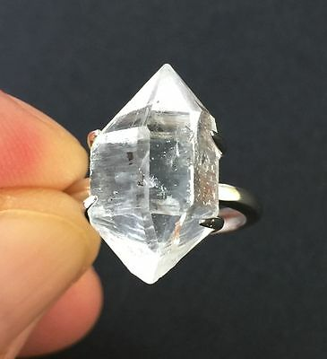 5.1g Herkimer Diamond Sterling Silver Ring Jewelry s R823
