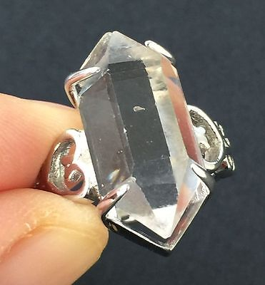 6.3g Herkimer Diamond Sterling Silver Ring Jewelry s R824