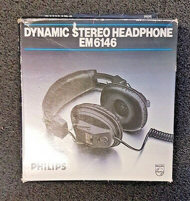 023s ~ Philips  ~ EM-6146 ~ Headphones ~ Vintage ~ BNIB ~ 6.35mm Jack ~ Charity