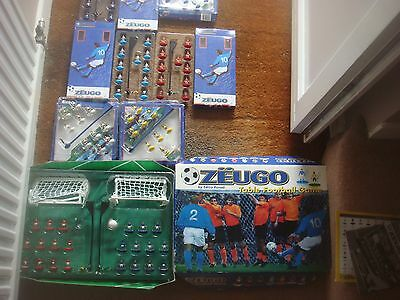 A Great Collection Of Zeugo Table Football - Set & Six Extra Teams ( Subbuteo )