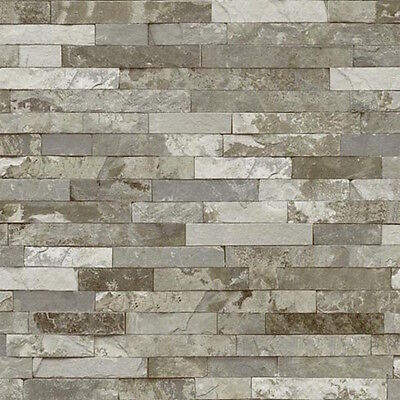 HQ Textured 10m Roll Feature Wall Paper Premium Stone Look wallpaper VISION 259D