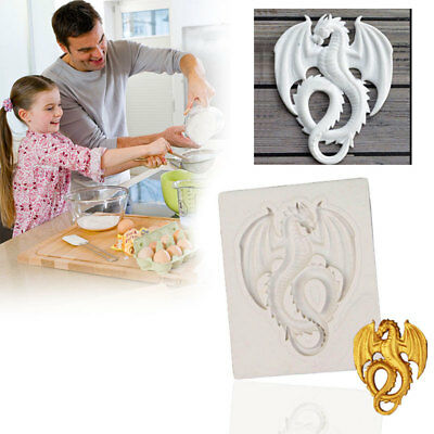 Dragon Silicone Mould Cake Moulds Chocolate Decor Sugarcraft Gum paste Clay