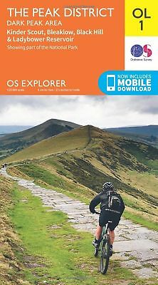 ORDNANCE SURVEY Explorer OL1 The Peak District - Dark Peak area With Digital ...