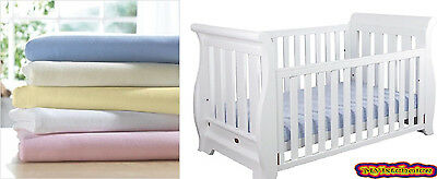 Junior Bed - Moses Basket - Cot -Cot Bed - 100% Cotton Soft Jersey Fitted Sheets