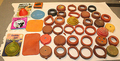 Lot of 42 Vintage Jar Openers Rubber Kitchen Utensils Sure Grip Jar Wrench Magic