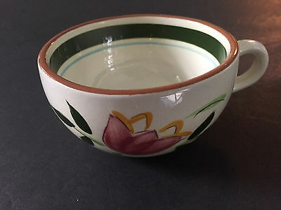 """Stangl Pottery Country Garden Brown Body 2-Sided Flower Pattern - 2"""" TEA CUP"""
