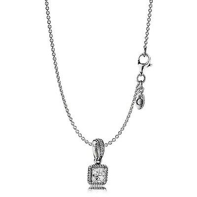 Pandora Timeless Pendant with Necklace 45cm Adjustable length  S925 ALE with box