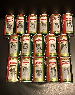 1979 Philadelphia Phillies Fever Canada Dry Ginger Ale Can Baseball Lot of 16