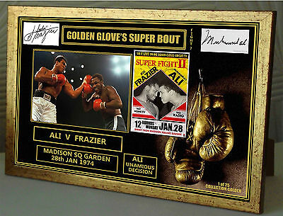 Ali Frazier  Golden Gloves Limited Edition Series Signed