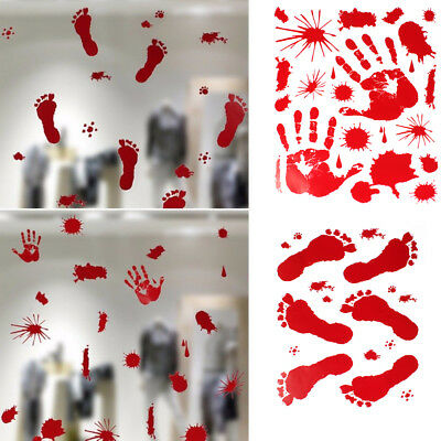 Halloween Scary Bloody Window Clings Door Cover Party Decorations New two Patter